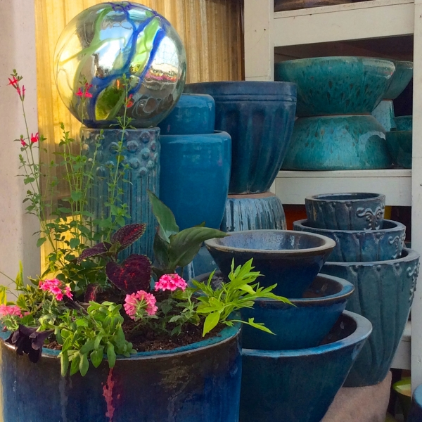 Varying-Shades-of-Blue-Pottery