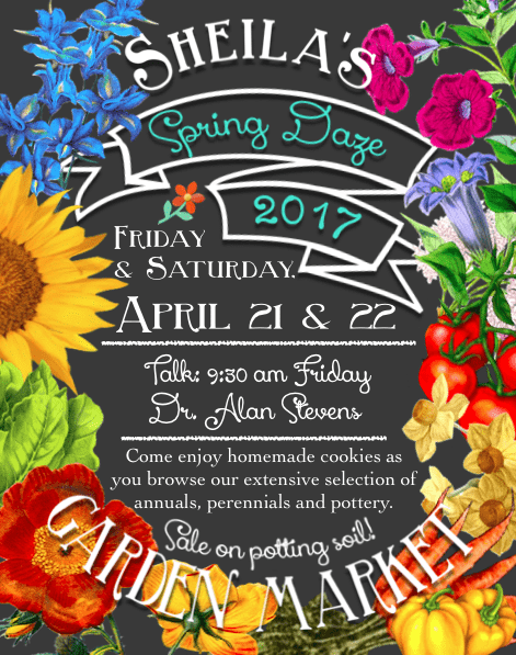 Spring Daze are April 21 & 22, 2017